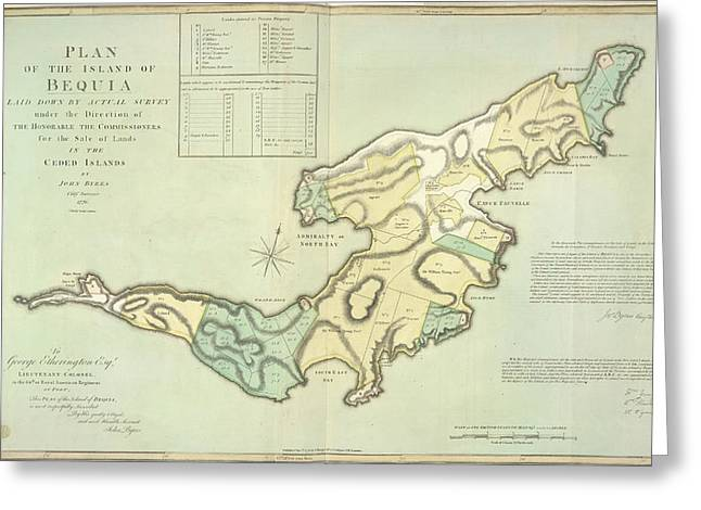 The Island Of Bequia Greeting Card by British Library