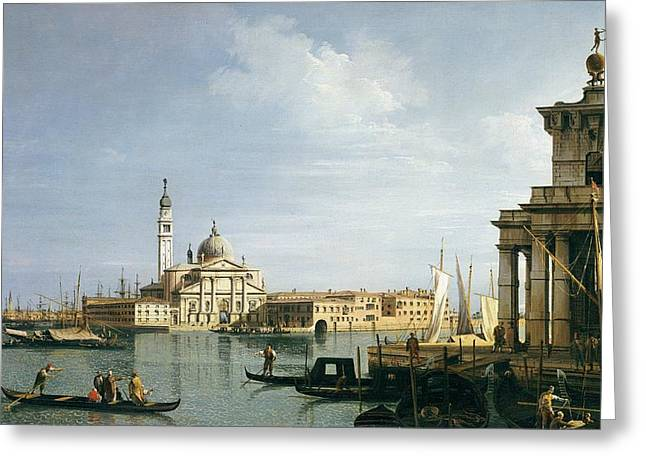 Italian Islands Greeting Cards - The Island of San Giorgio Maggiore Greeting Card by Canaletto