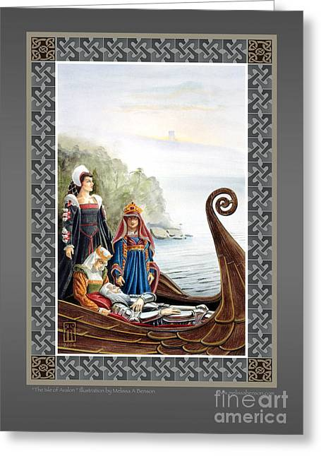 Camelot Mixed Media Greeting Cards - The Isle of Avalon Greeting Card by Melissa A Benson