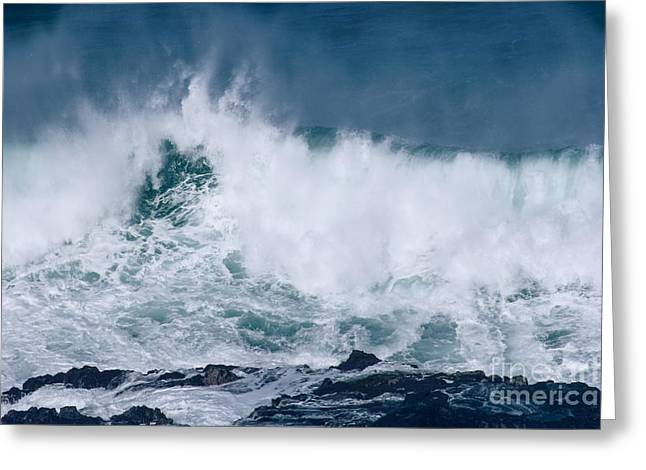 Colossal Greeting Cards - Peahi at Opana Point Maui North Shore Hawaii  Greeting Card by Sharon Mau