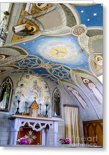 Two Spirit Greeting Cards - The Italian Chapel Mural Orkney Greeting Card by Tim Gainey