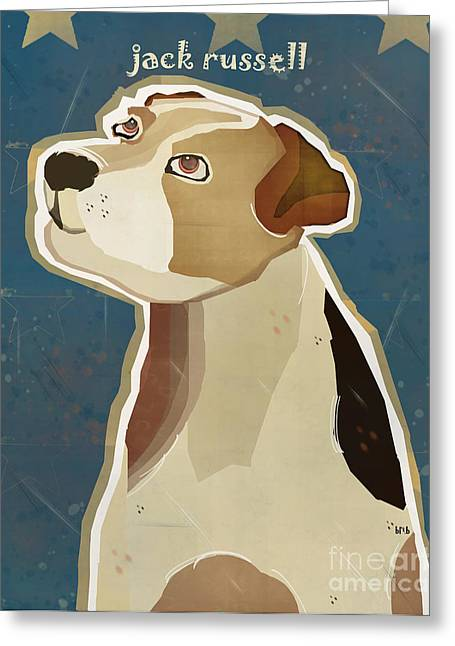 Jack Russell Terrier Greeting Cards - The Jack Russell Greeting Card by Bri Buckley