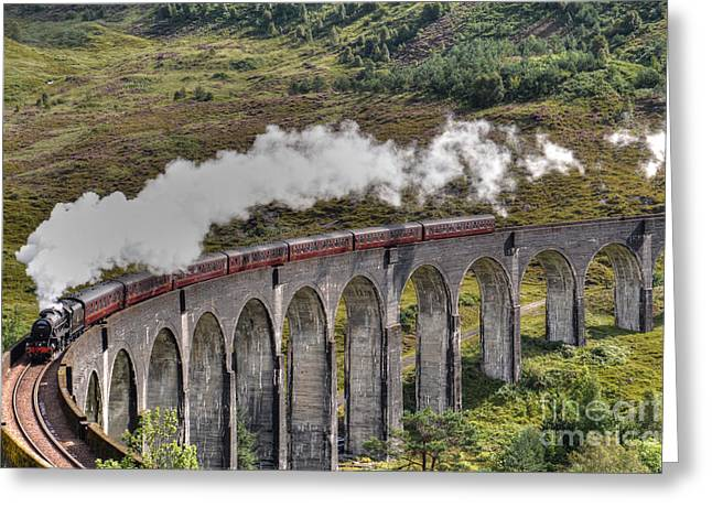 Recently Sold -  - Fineartamerica Greeting Cards - The Jacobite Steam Train Greeting Card by Alba Photography