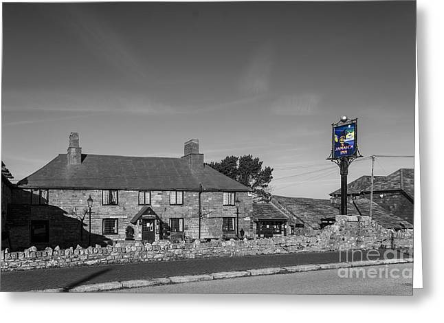 Selective Colouring Photographs Greeting Cards - The Jamaica Inn Bodmin Cornwall Greeting Card by Chris Thaxter