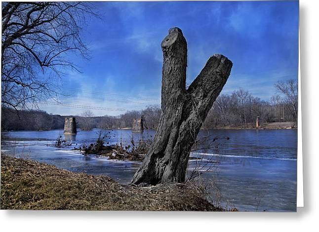 The James River One Greeting Card by Betsy Knapp