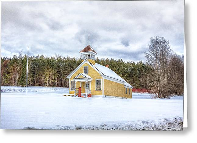 The James School Greeting Card by Gary Smith