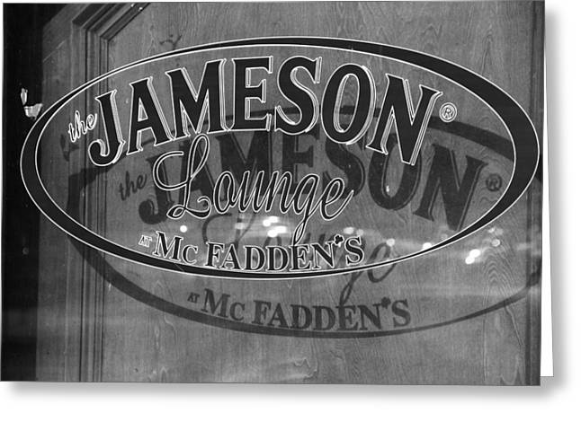 Mcfaddens Greeting Cards - The Jameson Lounge McFaddens Bar Greeting Card by Dan Sproul