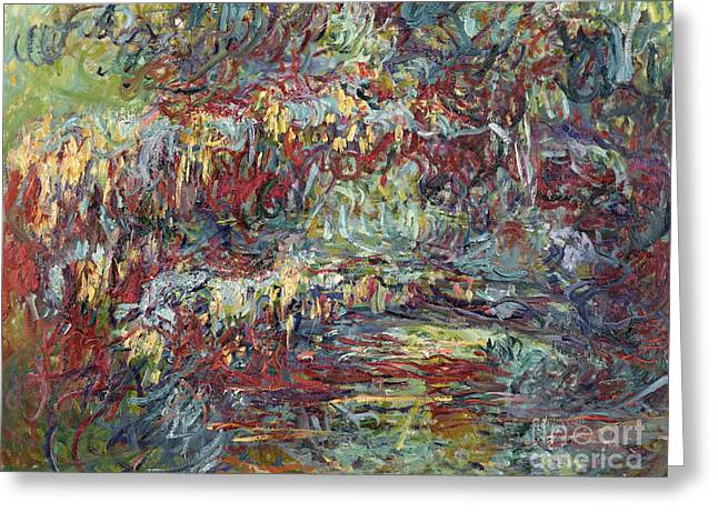 Artist Greeting Cards - The Japanese Bridge at Giverny Greeting Card by Claude Monet