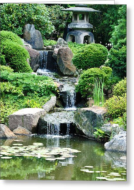 Phila Digital Art Greeting Cards - The Japanese Garden Greeting Card by Bill Cannon