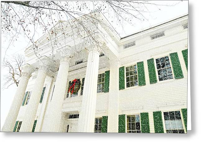 Treaty Greeting Cards - The Jay House at Christmas Greeting Card by Diana Angstadt