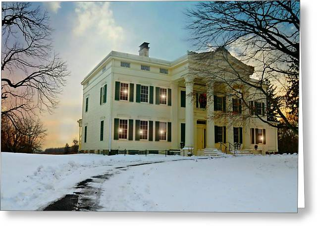 Treaty Greeting Cards - The Jay House Circa 1836 Greeting Card by Diana Angstadt