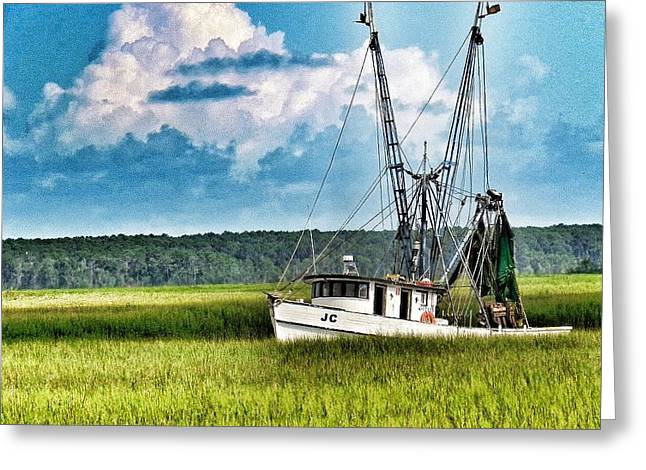St. Helena Island Greeting Cards - The JC Coming Home Greeting Card by Patricia Greer