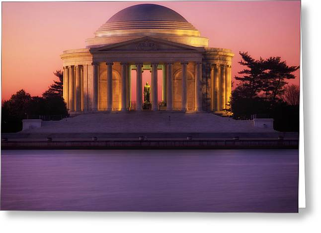 Jefferson Greeting Cards - The Jefferson Memorial Greeting Card by Mountain Dreams