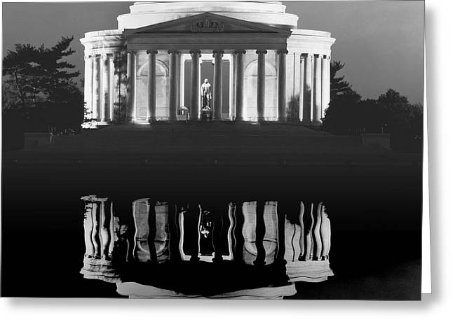Jefferson Greeting Cards - The JEFFERSON MEMORIAL Greeting Card by Daniel Hagerman