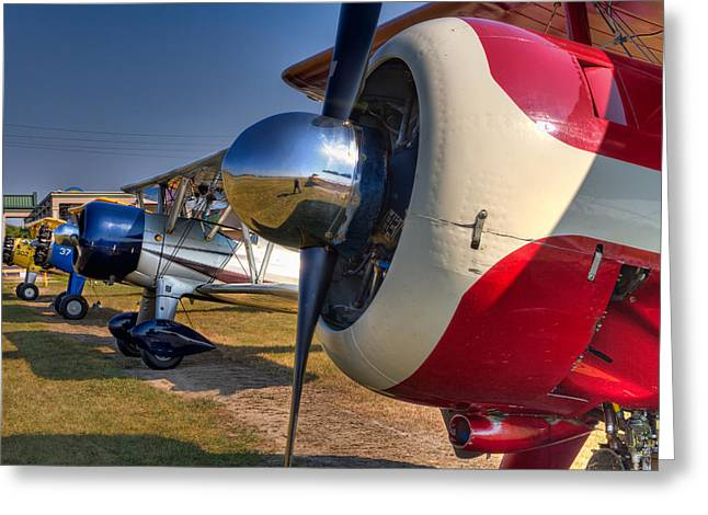 Aviation Greeting Cards - The Jennings Stearman Fly-In Greeting Card by Tim Stanley