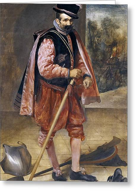 Jester Greeting Cards - The Jester Named Don John of Austria Greeting Card by Diego Velazquez