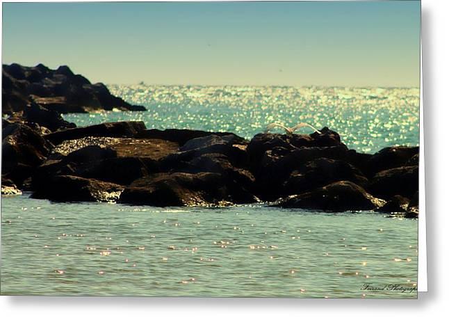 Panama City Beach Greeting Cards - The Jetties Greeting Card by Debra Forand