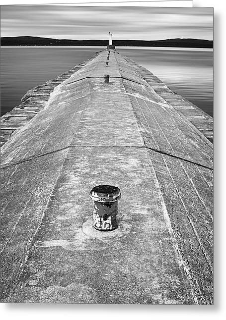 Leading Lines Greeting Cards - The Jetty Greeting Card by Adam Romanowicz