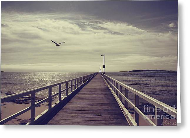 The Jetty Greeting Card by Linda Lees