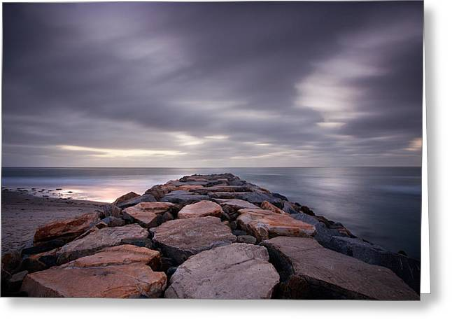 Locations Greeting Cards - The Jetty Greeting Card by Peter Tellone