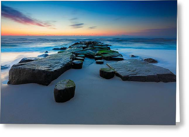 Piling Greeting Cards - The Jetty Greeting Card by Rick Berk