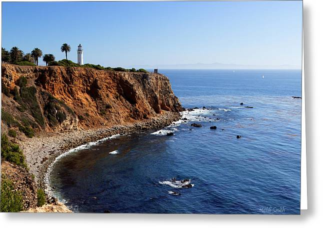 Recently Sold -  - Ocean Art Photography Greeting Cards - The Jewel Of Palos Verdes Greeting Card by Heidi Smith