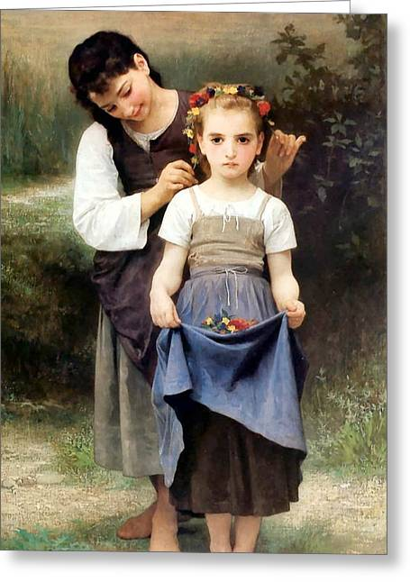 Williams Sisters Greeting Cards - The Jewel of the Fields Greeting Card by William Bouguereau