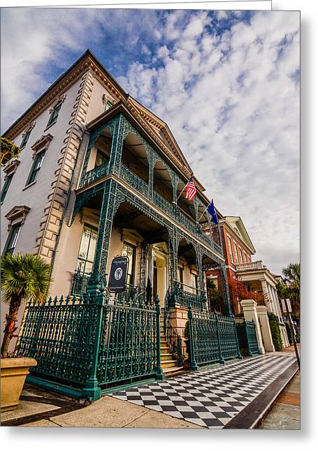 Houses Bed And Breakfast Greeting Cards - The John Rutledge House Inn Greeting Card by Wendy Mogul