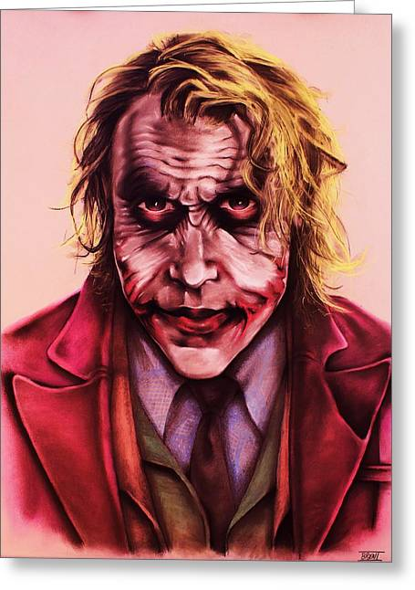 Bale Pastels Greeting Cards - The Joker Greeting Card by Brent Andrew Doty