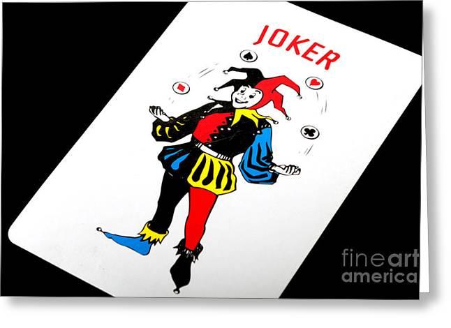 Playing Cards Greeting Cards - The Joker Greeting Card by Gunter Nezhoda