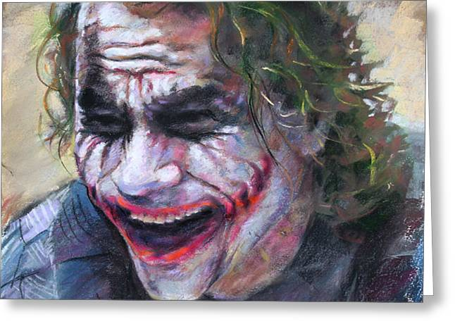 The Joker Heath Ledger  sm Greeting Card by Ylli Haruni