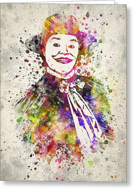 Angry Greeting Cards - The Joker - Jack Nicholson Greeting Card by Aged Pixel