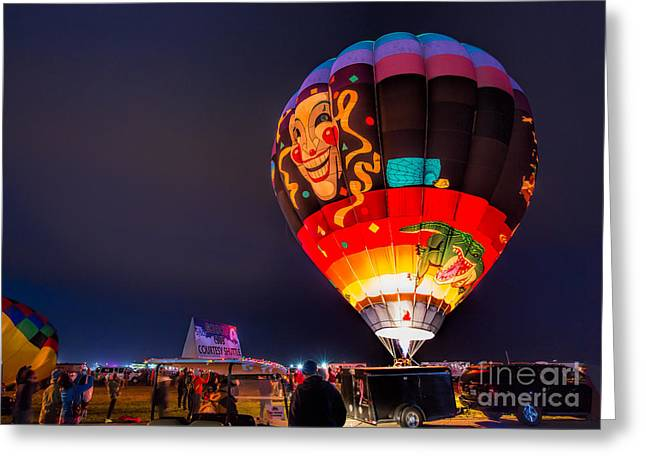 Hot Air Balloons Greeting Cards - The Joker Greeting Card by Mimi Ditchie