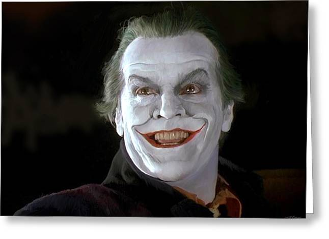 Princes Greeting Cards - The Joker Greeting Card by Paul Tagliamonte