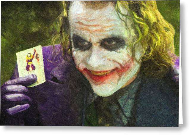 Gotham City Paintings Greeting Cards - The Joker Greeting Card by Taylan Soyturk