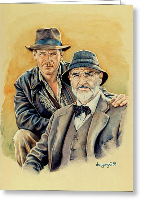 Los Angeles Drawings Greeting Cards - The Jones Boys Greeting Card by Edward Draganski