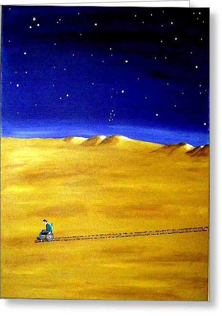 The Journey 2a Greeting Card by Sandy Wager
