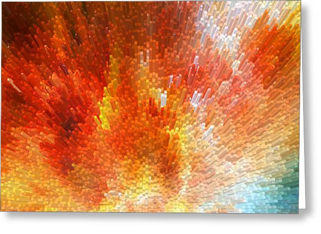 The Journey - Abstract Art By Sharon Cummings Greeting Card by Sharon Cummings