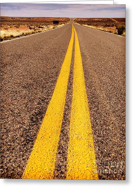 Road Travel Greeting Cards - The Journey Greeting Card by Colin and Linda McKie