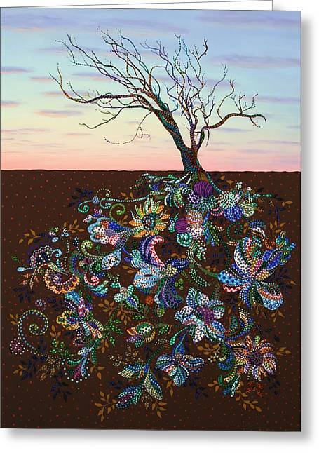 Roots Paintings Greeting Cards - The Journey Greeting Card by James W Johnson
