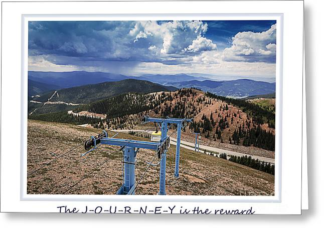 Ski Art Greeting Cards - The Journey Greeting Card by Janice Rae Pariza
