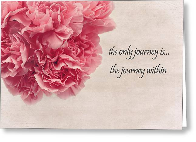 Pink Carnations Greeting Cards - The Journey Greeting Card by Kim Hojnacki