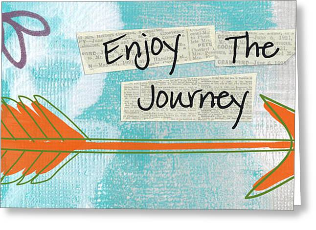 Arrow Abstract Greeting Cards - The Journey Greeting Card by Linda Woods