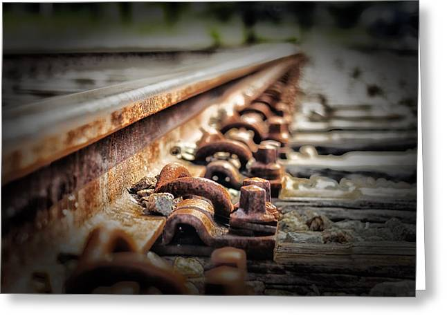 Rail Line Greeting Cards - The Journey Greeting Card by Mountain Dreams
