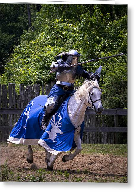 Kentucky Greeting Cards - The Joust Greeting Card by Wayne Stacy