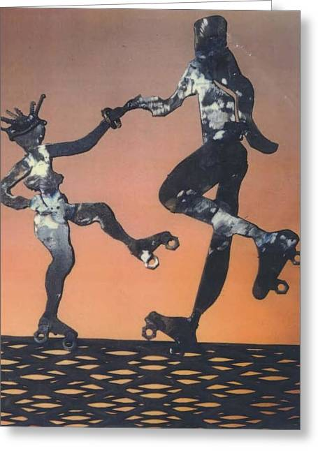 Dancing Sculptures Greeting Cards - The Joy of a Skater Greeting Card by Banks B Banks
