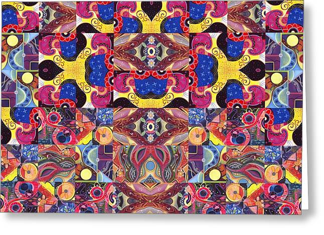 The Joy Of Design Mandala Series Puzzle 3 Arrangement 6 Greeting Card by Helena Tiainen