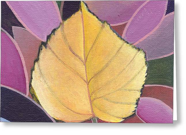 Fallen Leaf Mixed Media Greeting Cards - The Joy of Design X X I V Part 2 Greeting Card by Helena Tiainen