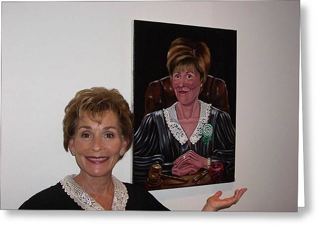 Susan Roberts Greeting Cards - The Judge shows Appreciation Greeting Card by Susan Roberts