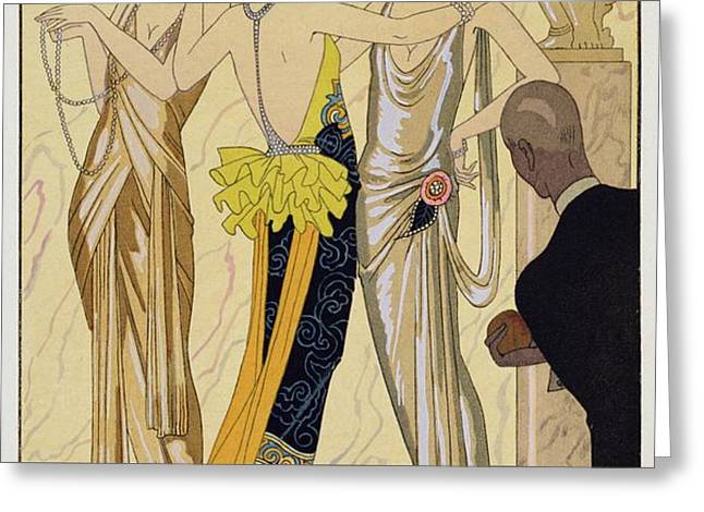 The Judgement of Paris Greeting Card by Georges Barbier